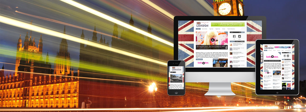 What is on in London Digital Marketing - Website Design & Facebook Application